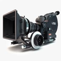3d model movie camera