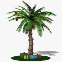3d model christmas palm tree