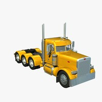 pete 389 daycab version 3d lwo
