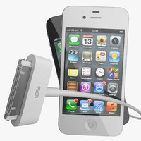 3d iphone 4s charger 4 model