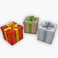3d christmas gifts model