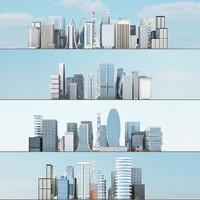 3d model city 2 10 blocks