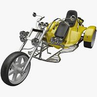 3d model trike motorcycle