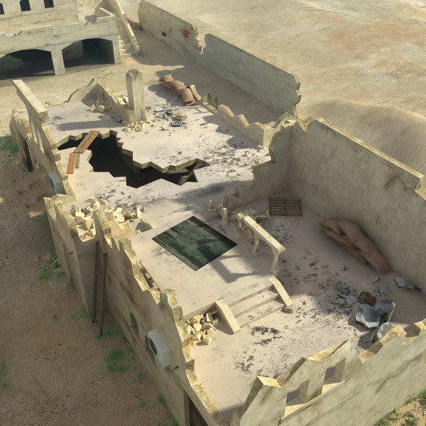 obj arab ruined village - Arab Ruined Village... by 3D_Multimedia