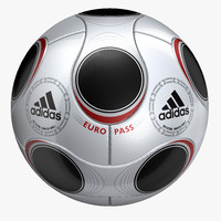 3d adidas soccer em2008 model