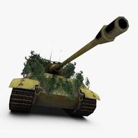 3d model king tiger tank