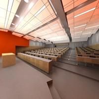 3d model university school 2