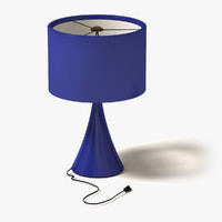 lwo lamp modern blue