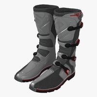 msr racing mxt boots 3d model
