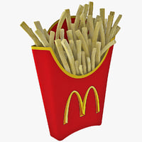 mcdonald s french fries 3d obj