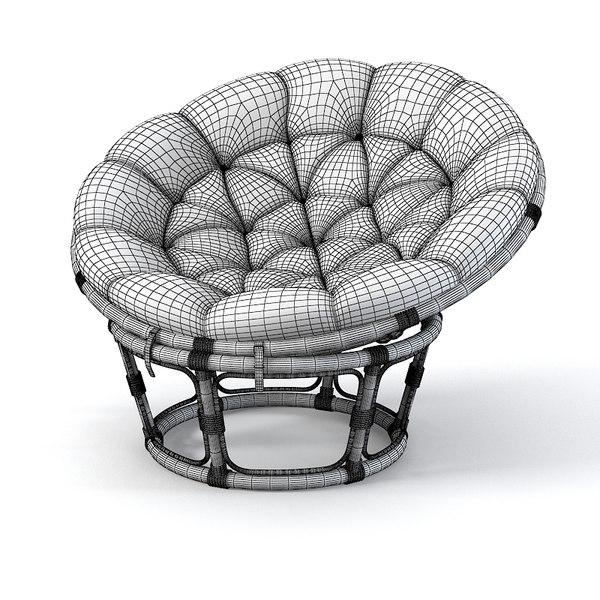 3dsmax Papasan Rattan Chair