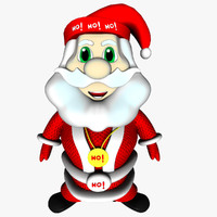 father christmas cute bones 3d model