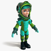 3d model cartoon astronaut