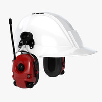 hard hat 1 ea 3d model