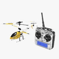 3d model toy helicopter transmitter