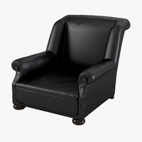 massage chair leather 3d model