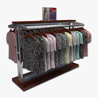 3d women blouses rack