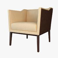 3d armchair baker 6362