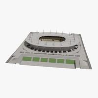 stade france football stadium 3d model