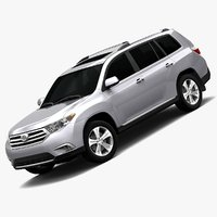 2011 toyota highlander interior 3ds