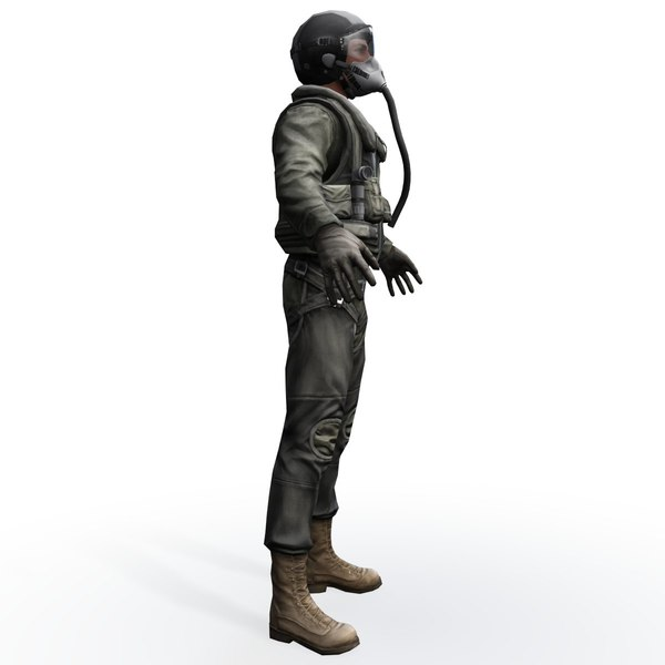 army pilot real-time 3d model - Real-Time US Army Pilot... by RetroStyle Games