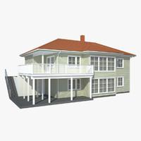 3d max opal house siding