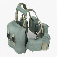 3d model ammunition bags