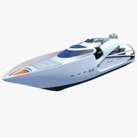 audax sport yacht 3d model