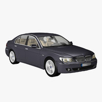 3d bmw 7 limousine 2006 model