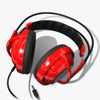 3d headphones head phones model