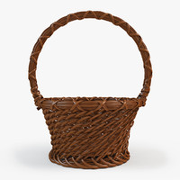 3d basket wood model
