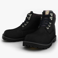 black winter shoes obj