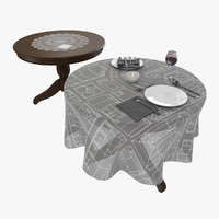 3d table tableware model