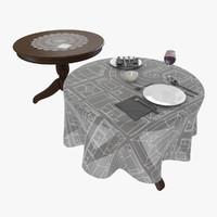3d table tableware model