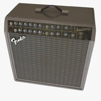 3d model fender acoustic guitar amp