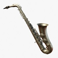3d saxophone instrument model