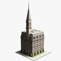 19th century american building 3d model