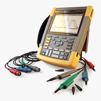 multimeter fluke 190-204 3d model