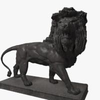 Metal Lion Statue