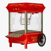 3d popcorn machine 3 model