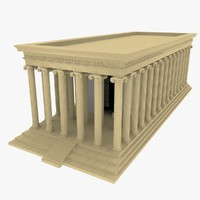 3d temple greek column