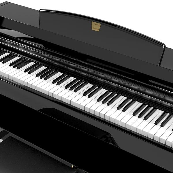 Yamaha Clavinova Digital Piano 3d Model
