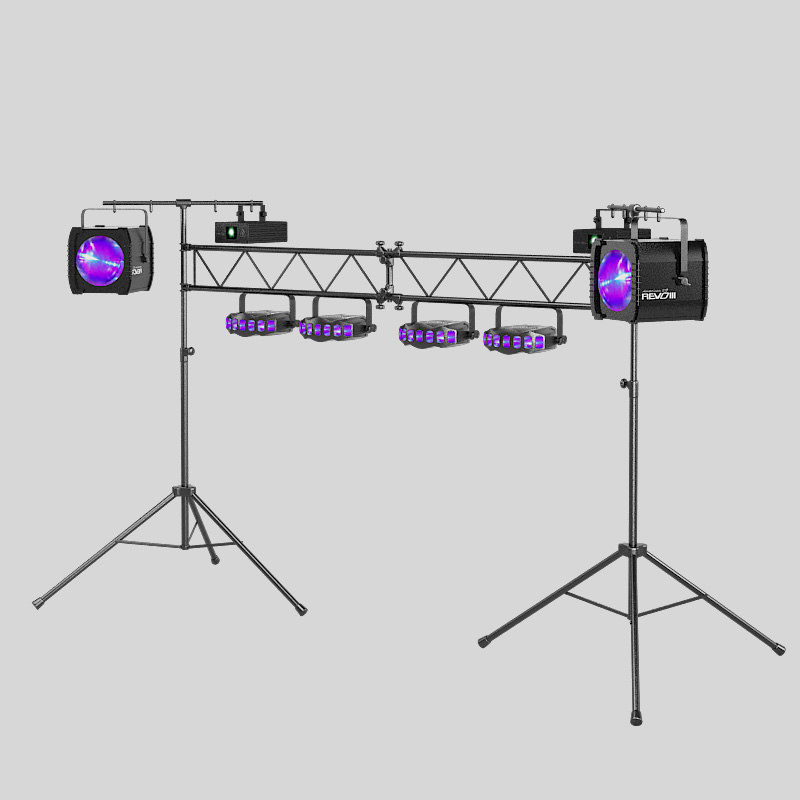 b Dj Lighting Package Goalpost Trussing Stand Equipment laser spot projector  light holder stage Equinox Orion Audio Works dance dancing muisic karaoke club.jpg