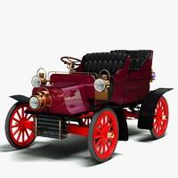 3d model of 1904 cadillac b