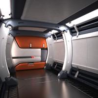 max sci fi futuristic spaceship