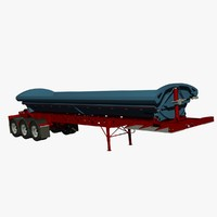 dump trailer tw3000 midland 3d model