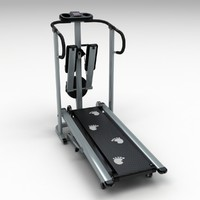 3d treadmill hdri model