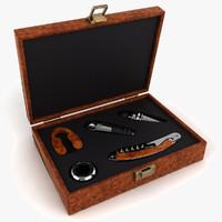 wine tool set 3d model