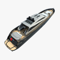 3ds max modern yacht
