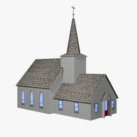 frontier church 3d model